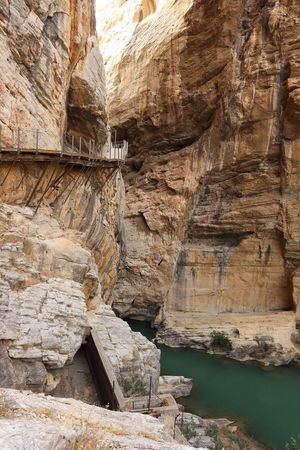 Alfonso XIII Beauty In Nature Caminito Del Rey Mountains Nature Photography Nature Collection Outdoors Panoramic Photography Pantano Pasarelas Pasarelas Colgantes Rock Formation Tranquil Scene Tranquility The Great Outdoors - 2017 EyeEm Awards