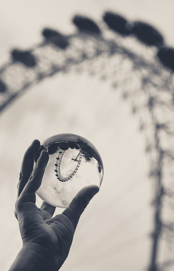 Glass Ball London London Eye, London Body Part Close-up Day Finger Focus On Foreground Glass Hand Holding Human Body Part Human Hand Leisure Activity Lifestyles Low Angle View Men Nature One Person Outdoors Personal Perspective Real People Sky Unrecognizable Person