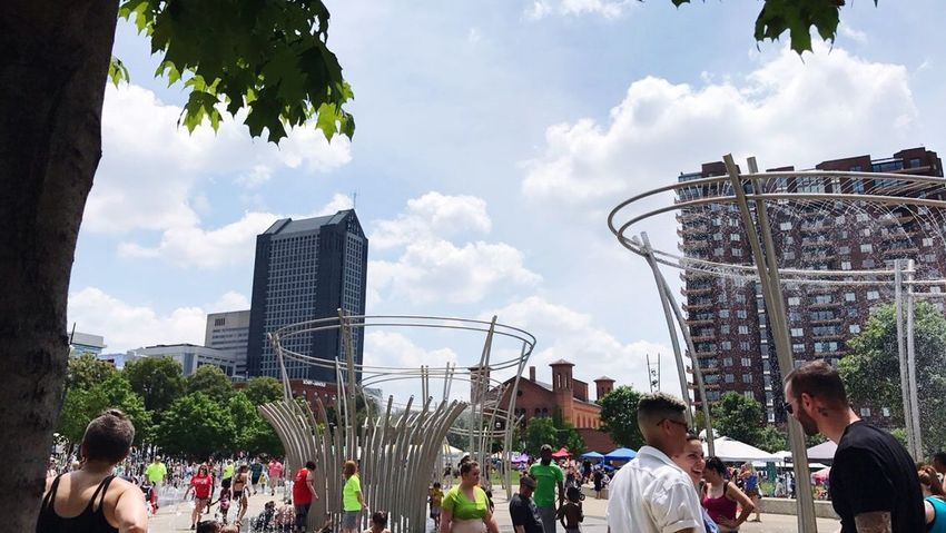 Columbus, Ohio Pride 2017 Gay Gaypride Real People Cloud - Sky Large Group Of People Sky Day Outdoors Fun City People Togetherness Lifestyles Enjoyment Built Structure Leisure Activity Architecture Metropolis Bigcity Columbus