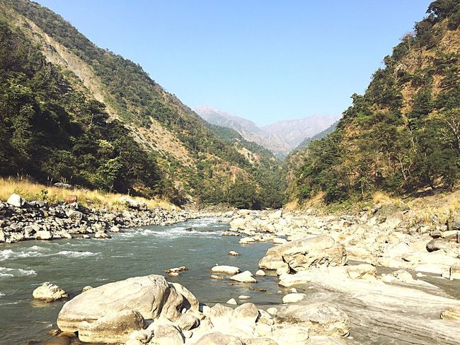 Mountain Landscape River Yamuna River No People Nature Clear Sky Hills And Valleys
