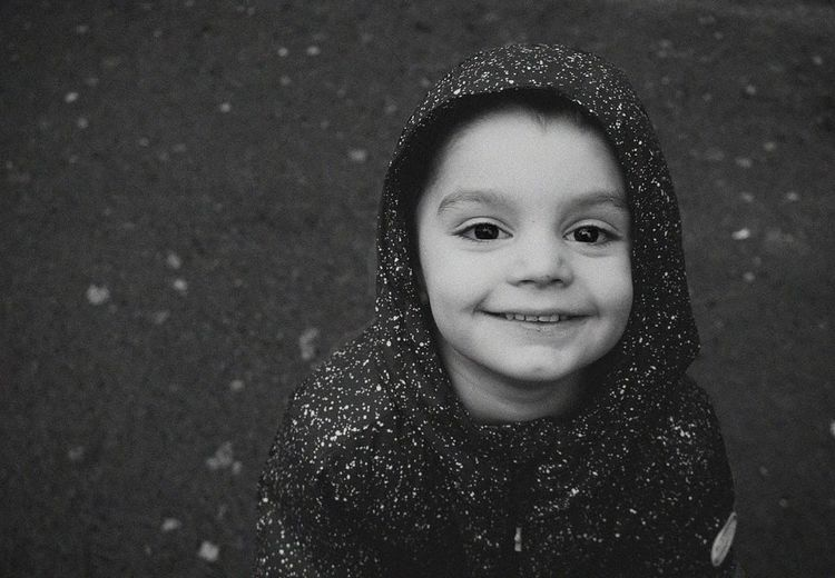 Portrait Child Childhood Smiling Snowflake Cheerful Looking At Camera Happiness Headshot Front View
