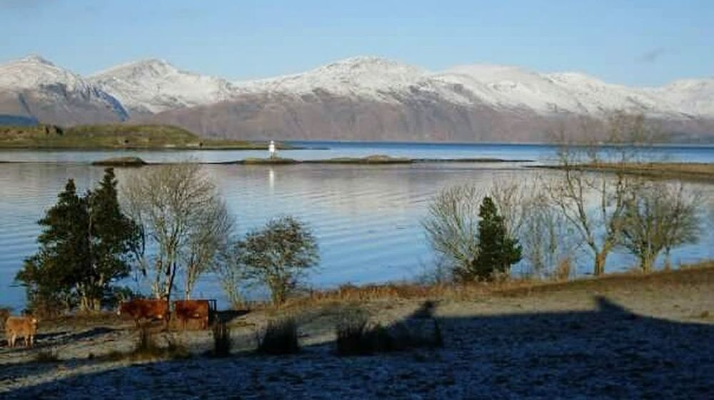 2010, Port Appin - Scotland Scotland Winter Lighthouse Mountain Idyllic Non-urban Scene Scottish Scenery Scottish Highlands Port Appin