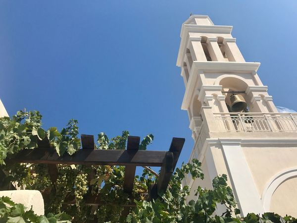 Church Santorini, Greece Blue Sky