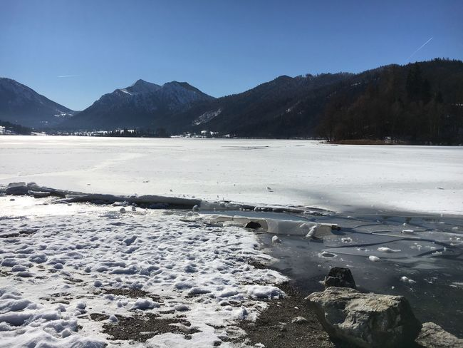Schliersee Winter Cold Temperature Beauty In Nature Snow Tranquility Ice Sky Frozen Lake Cold Nature