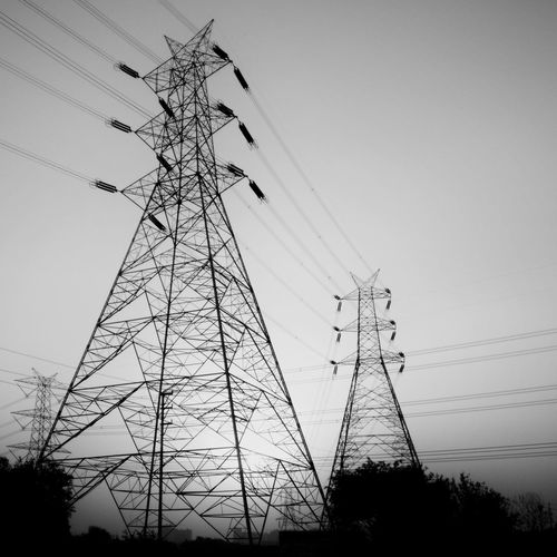 Silhouette No People Outdoors Sky Oneplus3T Mobile Photography Electricity Tower Blackandwhite Photography Monocrome