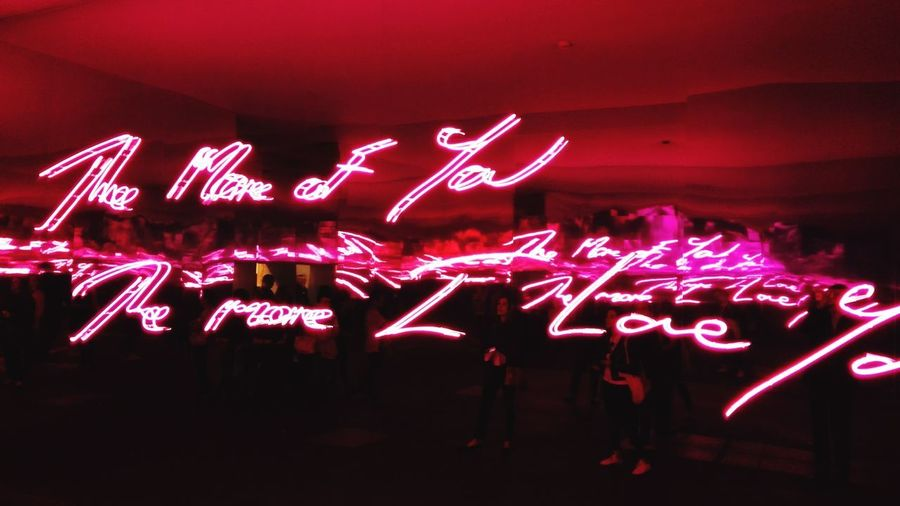 Text Illuminated Neon ArtWork Artbasel2016 Basel, Switzerland Pink Color Violet Mirror Effect Millennial Pink