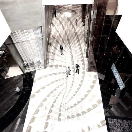 Architecture Built Structure Modern Pattern Shopping Mall City Staircase Spiral Indoors  No People Day Aria Resort & Casino.