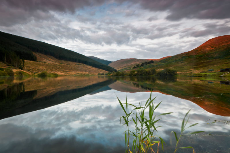 Beauty In Nature Hill Horizontal Symmetry Lake Landscape Nature Outdoors Scenics