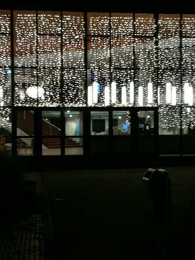Built Structure No People Architecture Illuminated, lights for Christmas in theater building