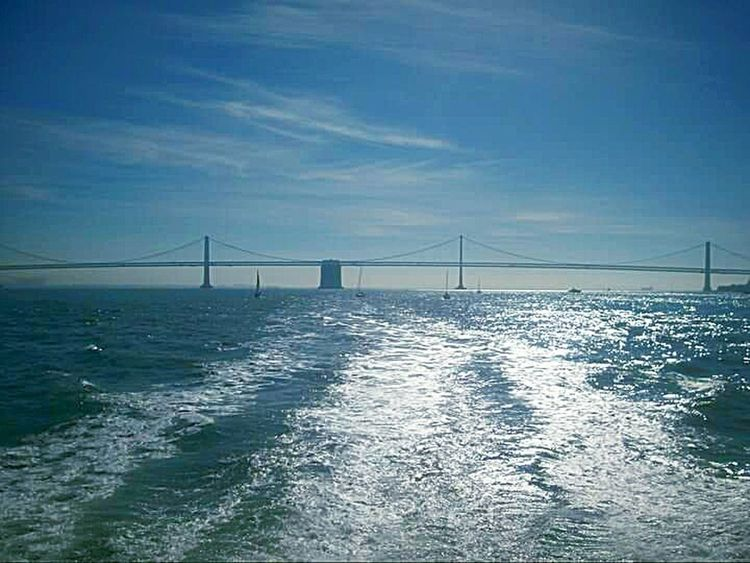 Original Bay Bridge Sight Seeing Ferry Views Ferry Ride Water San Francisco Bay My Point Of View Tourist Attraction  This Week On Eyeem Taking Photos San Francisco Architecture My Photography