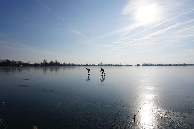 Where we go with our boats in summer... Groene Hart Langeraarse Plassen Sunlight Winter Lake Nieuwkoop Reflections Scenery Scenics Skating Sports Sun Zuid Holland