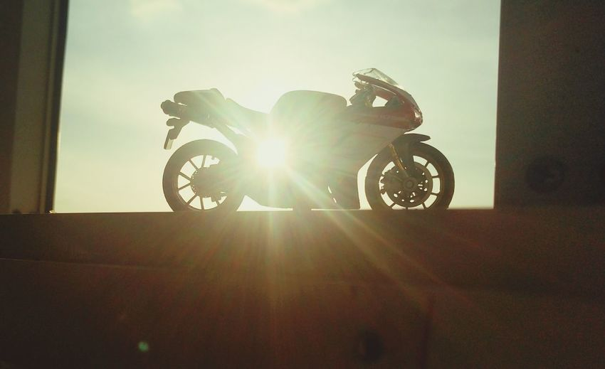 Motorcycle Lens Flare Silhouette Biker EyeEmNewHere Ducati Motorcycle Ducatti Diecastphotograpy Diecast