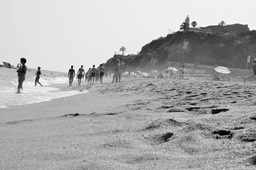 Beach Blackandwhite Outdoors Real People Sand Sea SPAIN Summer