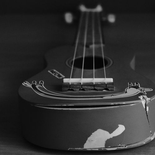 Heavily Used AcroS 1855mm Xe3 Uculele Musical Instrument String Instrument Guitar Music String Musical Equipment Close-up Arts Culture And Entertainment Musical Instrument String Indoors  No People Still Life Single Object Acoustic Guitar Focus On Foreground The Still Life Photographer - 2018 EyeEm Awards