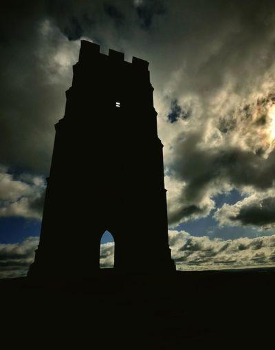 Tor Glastonbury Light And Shadow Eye4enchanting Skyporn Traveling Silhouette