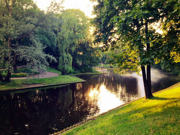 Just Around The Corner Riga Latvia Canal Golden Hour