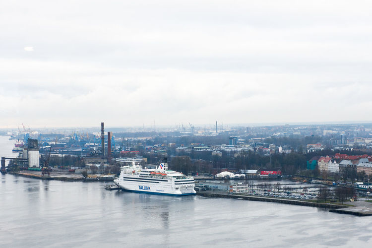 Ferry Ship Walter Transport Riga Tallink Isabelle Tallink Isabelle Harbor Mode Of Transport Transportation City Cityscape