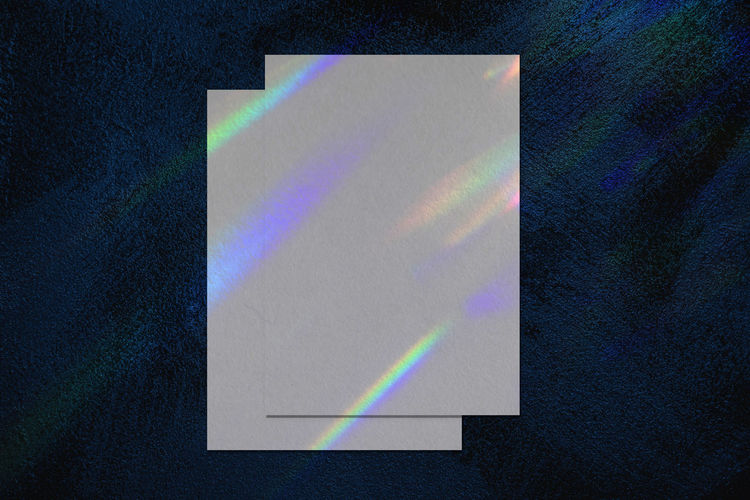 High angle view of rainbow on paper