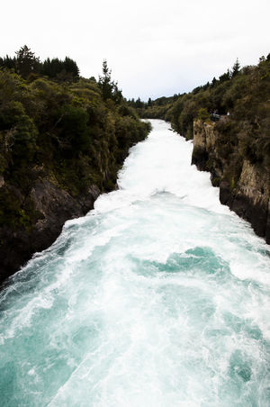 Huka Falls - New Zealand NZ Huka Falls Nature New Zealand Water Waterfall