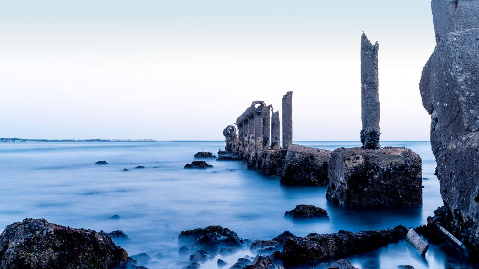 Long exposure in the Lisbon-Portugal Beauty In Nature Cold Temperature Day Horizon Over Water Long Exposure Long Exposure Shot Longexposure Longexposurephotography Nature No People Outdoors Rock - Object Scenics Sea Sky Tranquil Scene Tranquility Water