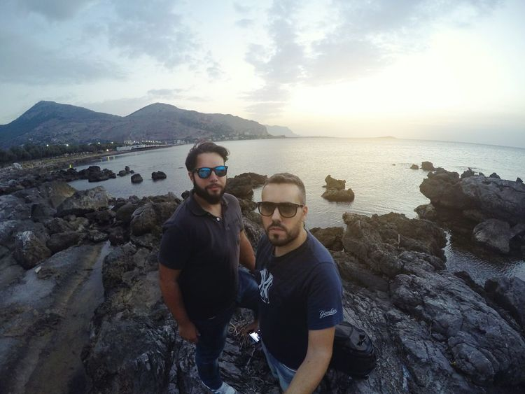 Self Portrait Around The World Selfportrait Goprohero4 Friends Sea Sicily Sunset Beach Palermo THESE Are My Friends