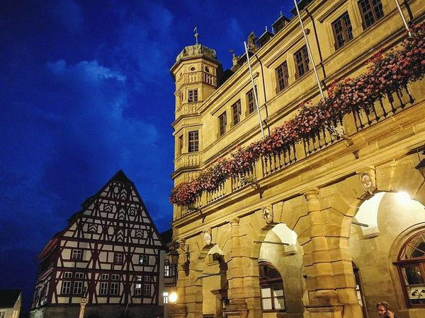 Medieval Architecture Building Exterior Night Built Structure Illuminated Low Angle View Sky No People Travel Destinations Outdoors City Clock Politics And Government Clock Face