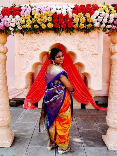 lovely EyeEm Best Shots Culture And Tradition Marathiculture One Young Woman Only Multi Colored People Day Outdoors Real People