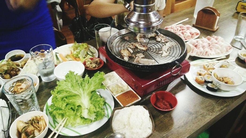 Korean feast last night. Thank you God.