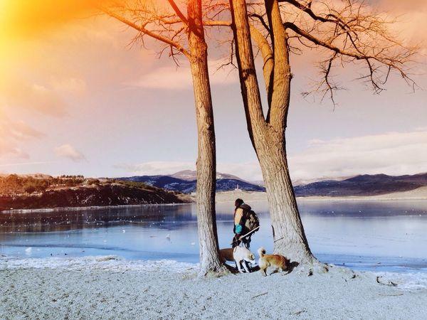 Mobilephotography Wintertime Frozenlake Georgia Tbilisi Lisi Lake