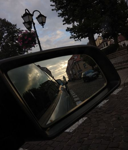 City Tree Photography Themes Cityscape Road Car Reflection Mirror Sky Side-view Mirror Vehicle Mirror