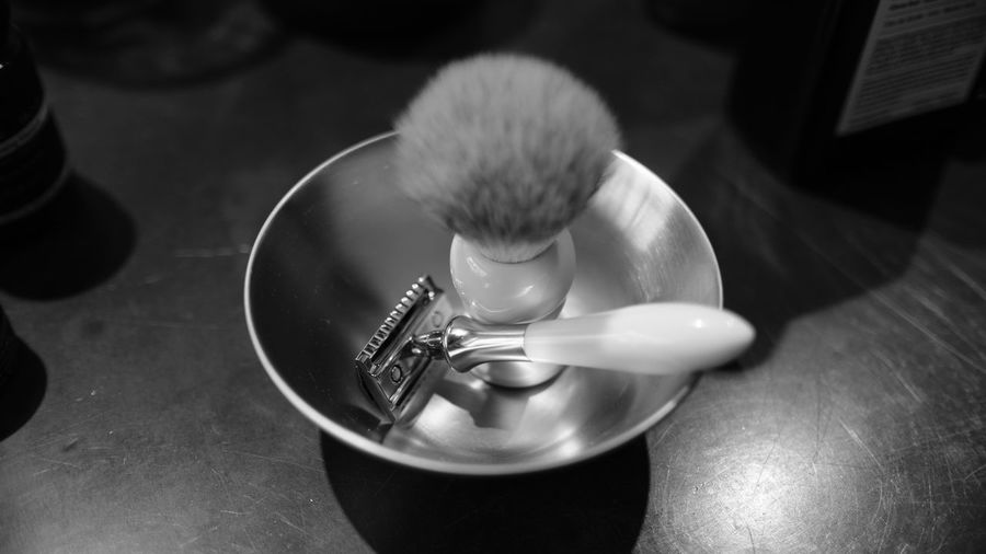 Black & White Black And White Blackandwhite Brush Close-up Day Freshness Fujifilm Monochrome No People Razor Scented