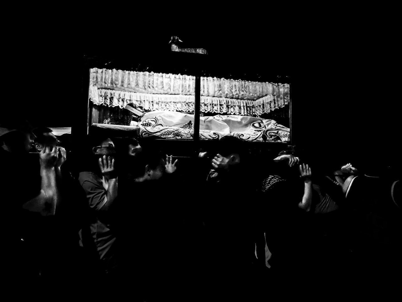 PEOPLE AT ILLUMINATED NIGHTCLUB