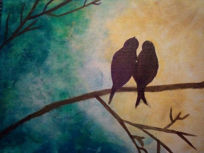 Taking Photos Paint Acrílico Pintura Birds Sin Filtros Cuadro For Me