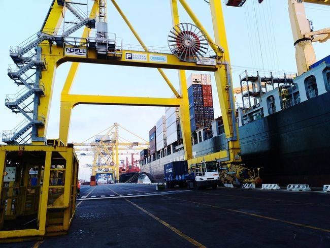 Ship Containers Container Ship Port City Sky Architecture