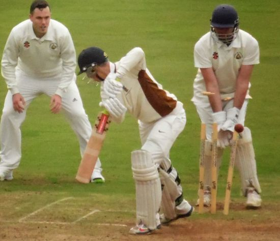 Bowled him! Cricket Field
