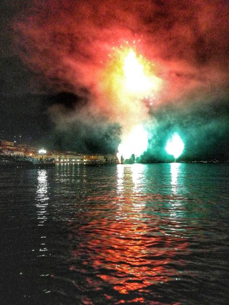Colours Colors Fireworks Firework - Man Made Object Fireworks In The Sky Fireworks Photography Firework Firework🎆 Lake Lake View Lake Garda Water No People Night Sky Cloud - Sky Outdoors Scenics Multi Colored Reflection Reflections Reflections In The Water Reflection Photography Reflection Lake Reflection_collection EyeEmNewHere Mix Yourself A Good Time
