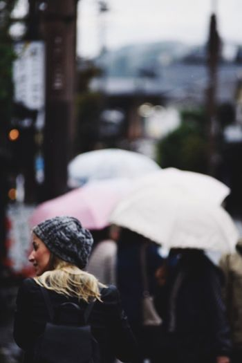 Lost In The Landscape Kyoto Bamboo Forest Street City Outdoors Real People Women Rainy Days Warm Clothing Young Adult Japan Nikon