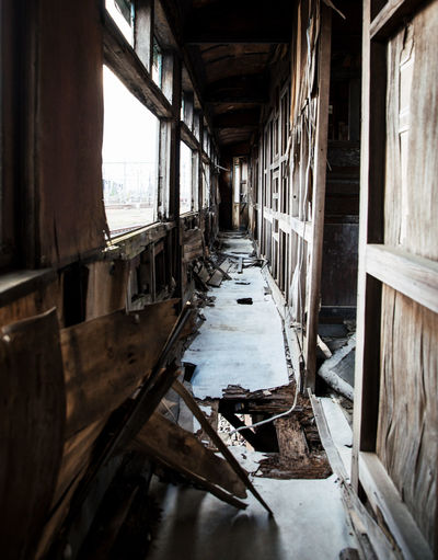 Abandoned Architecture Broken Building Built Structure Damaged Day Decline Destruction Deterioration Indoors  Messy No People Obsolete Old Ruined Run-down Weathered Window Wood - Material