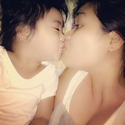 'coz she loves me.. :) Mother & Daughter ♥