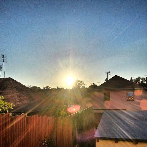 Sun shining through house