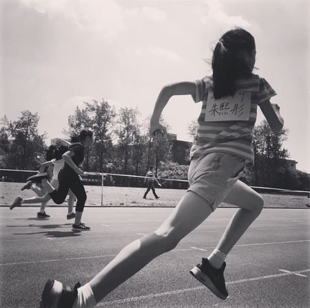 Childhood Full Length Leisure Activity Playing Sport Lifestyles Real People Skill  Outdoors Two People Day Girls Elementary Age Boys Child Friendship Sports Clothing Tree People Running Run
