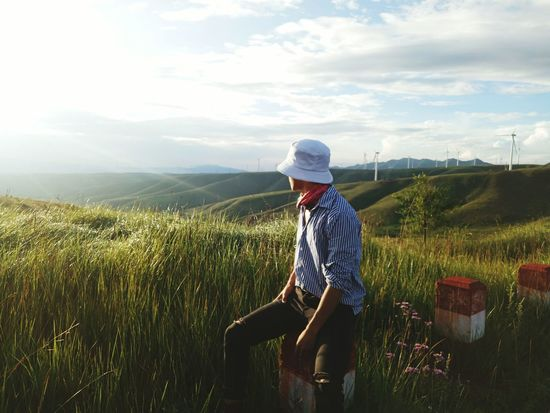 Farmer Rural Scene Mountain Cereal Plant Working Occupation Baseball Cap Agriculture Farm Worker Rice Paddy