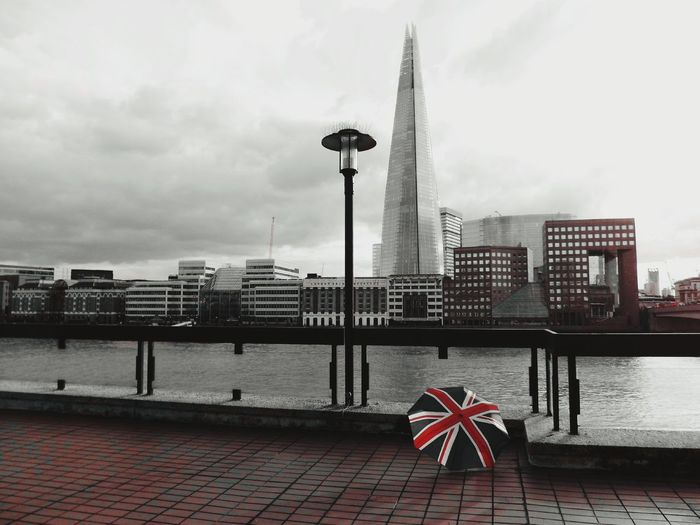 Showcase March Union Shard! Architecture Colour Splash Capital Cities  Capital City International Landmark Famous Place City Outdoors Uk Perspective London - England Umbrella Union Jack Colorsplash Black And White Skyscraper Shard London Bridge Tall - High No People Tourism British Culture Travel Day London