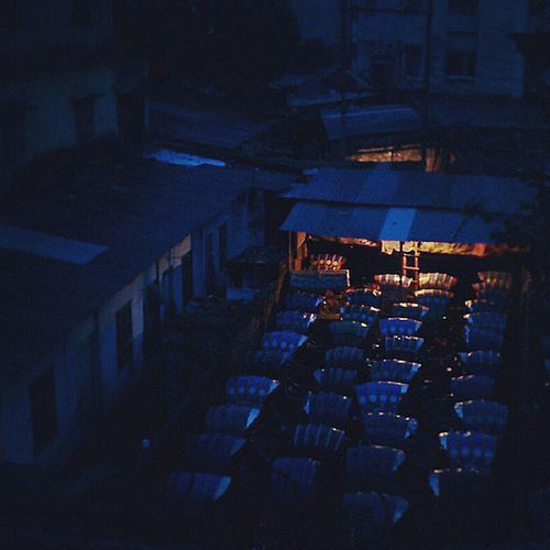 She glows on blue this picture captured at the end of the night Morning Sun Love Lighted nightly hagel bangladesh beautifulbangladesh rainy rainstorm osen blue