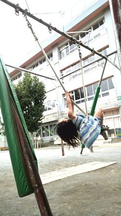 Girl Elementary School Japanese  Japan Playground 女の子 Gymnastics 小学校 School 学校 Rope Swing