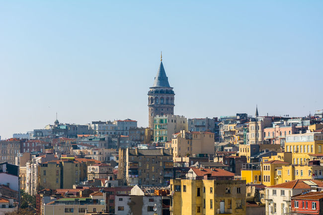 View of Galata Tower Architecture Building Exterior Built Structure Byzantine City Cityscape Europe Galata Galata Tower Galatakulesi Genoese Istanbul No People Ottoman Empire Outdoors Sky Tophane Tower Turkey Türkei Türkiye