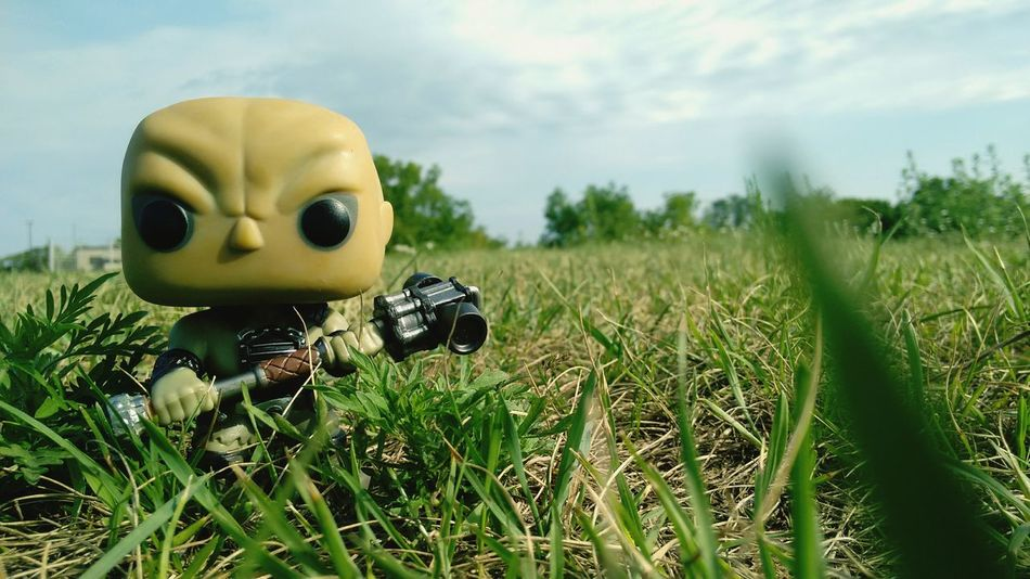 Grass Growth Field Plant Nature Tranquil Scene Day Beauty In Nature Green Color Solitude Grassland Non-urban Scene Green Outdoors Tranquility Toy Funkofunatic Eyem Best Shots Funkopopvinyl Amazing Funko Still Life Fallout Supermutant Colorful