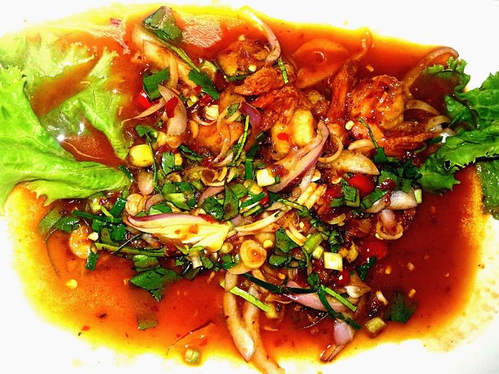 Spicy Thai salad Food And Drink Freshness Food Vegetable Salad Spicy Food Thailand Thai Thai Food Thai Spicy Salad