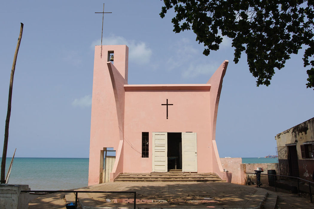 Sao Tome and Principe, Africa Africa Architecture Building Exterior Built Structure Chapel Church City City Life Colonial Architecture Day Famous Place No People Outdoors Religion Sao Tome Sao Tome And Principe Spirituality Tourism Tourist Attraction  Town Travel Travel Destinations Urban Water West Africa