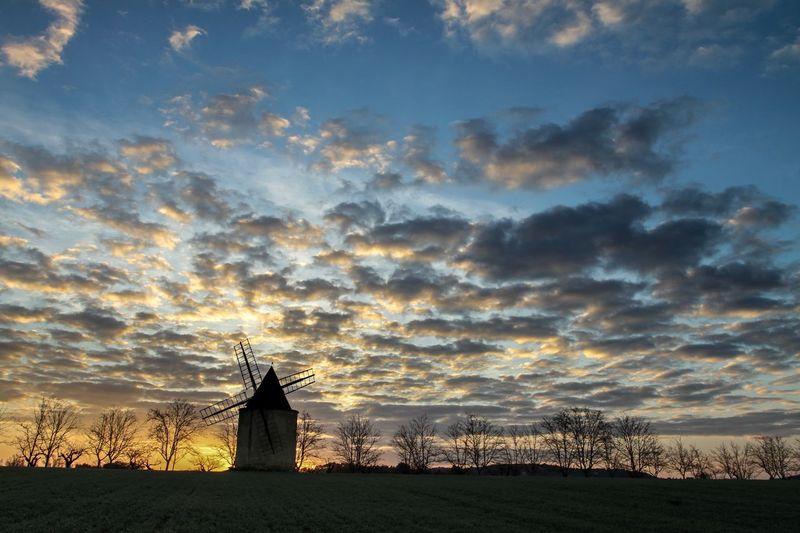 a windmill in